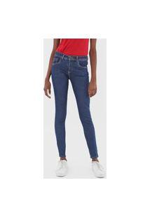 Calça Jeans Cantão Skinny Pespontos Azul