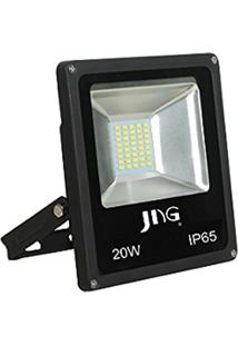 Refletor Jng Led Preto 20W 6500K Fl02