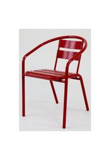 Cadeira Fun Em Aluminio Vermelha - 58360 Vermelho