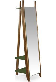 Espelho Stoka 169,5 Cm 988 Nogal/Verde Musgo - Maxima
