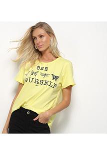 Camisetas-Sommer-Feminino- Estampada Com Aplicação-343101004 - Feminino