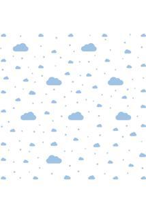 Adesivo De Parede Nuvens Azul 64 Un Para Quarto Infantil