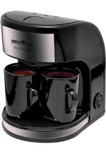 Cafeteira Elétrica Britânia Coffee Duo - Preta/Prata