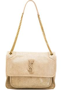 Saint Laurent Niki Shoulder Bag - Dourado