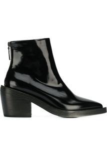 Marsèll Ankle Boot Bico Fino - Preto