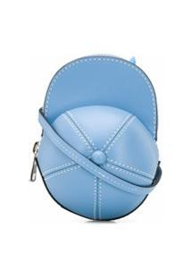 Jw Anderson Bolsa Transversal Em Formato De Boné - Azul