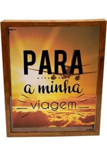 Quadro Porta Dinheiro Prolab Gift Viagem Tabaco - Amarelo/Marrom/Preto - Dafiti