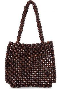 Amaro Feminino Bolsa Pequena Beads, Marrom