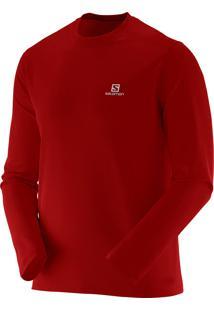 Camiseta Manga Longa Salomon Comet Ls Masculino P Vermelho