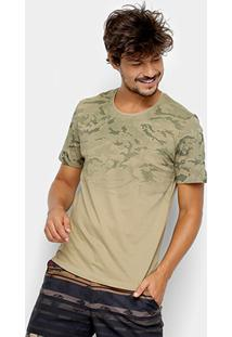 Camiseta Kohmar Camuflada Manga Curta Masculina - Masculino