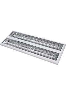 Luminária Completa De Sobrepor Taschibra Td 60 - 2X14W T5 6400K Bivolt Branco