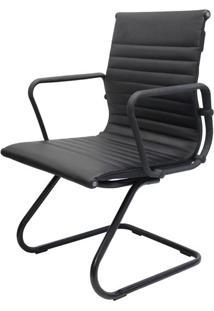 Cadeira Escritorio Eames Blackline Estofada Base Fixa - 41005 - Sun House
