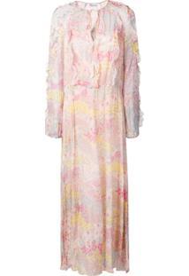 Red Valentino Cascading Stars Print Dress - Rosa