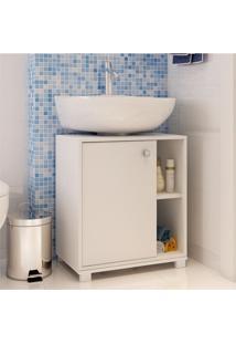Balcão Para Banheiro Bbn 01-06 Branco Fosco - Brv Móveis