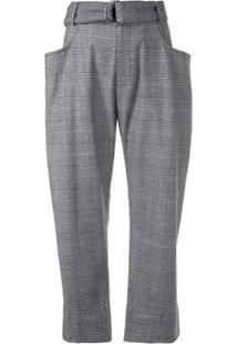 Proenza Schouler Calça Pantalona Xadrez - Preto