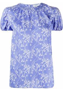 Kenzo Blusa Estampada - Azul
