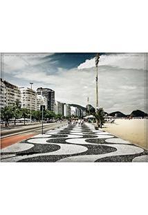 Jogo Americano Decorativo, Criativo E Descolado   Calçadão Na Praia De Copacabana No Rio De Janeiro, Rj - Tamanho 30 X 40 Cm