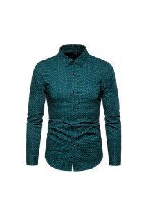 Camisa Masculina Social Slim Mackay - Verde