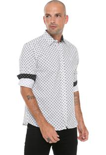Camisa Reta Estampada Polo Wear Branca