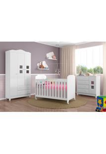 Dormitório Carol Brilho Carolina Baby Branco
