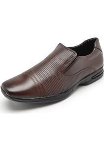 Sapato Social Mariner Textura Marrom