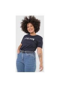 Blusa Calvin Klein Jeans White Stripes Azul-Marinho