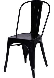 Cadeira De Jantar Retrô Or Design Preto