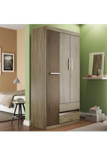 Guarda-Roupa 3 Portas 2 Gavetas Rp8032 Wood/Cedro - Decibal Móveis