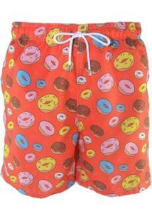 Short Bidoo Donuts Masculino - Masculino-Vermelho