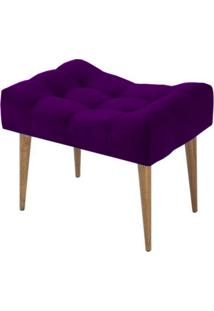 Puff Requinte Suede Lyam Decor Roxo