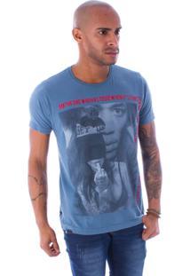Camiseta Bossa Decote Canoa Hendrix Azul - G