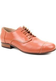 Oxford Couro Shoestock Fachete Feminino - Feminino-Marrom