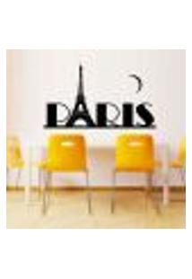 Adesivo De Parede Torre Eiffel Paris Modelo 2 - Extra Grande