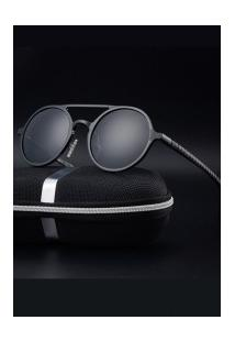 Óculos De Sol Estilo Gatsby Xy053 - Preto E Cinza
