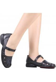 Sapato J.Gean Em Couro Bordado