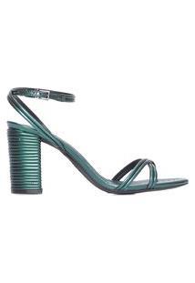 Sandália Texture Metallic - Verde