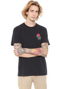 Camiseta Osklen Color Rose Preta