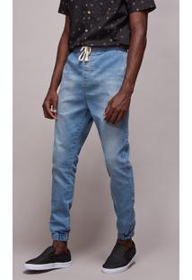 Calça Jeans Masculina Jogger Skinny Azul Claro