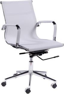 Cadeira Office Eames Tela- Branca & Prateada- 97X61Xor Design