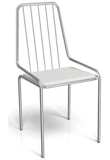 Cadeira Kappesberg Benim 1C082 Aço Cromada Cromada/Branco