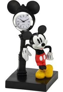 Relógio De Mesa Analógico De Mesa Mickey® - Preto & Vermmabruk