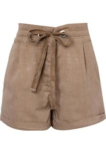 Shorts Clochard Viscose (Bege Claro, 36)