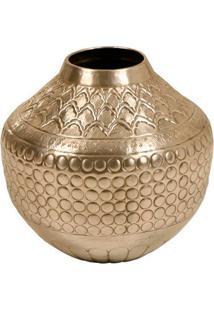 Vaso Decorativo De Metal Alpaca Doha Grande