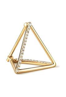 Shihara Brinco Triângulo Com Diamantes 15 (02) - Metálico