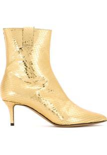 45f3bb578 Emporio Armani Bota De Couro Metalizada - Dourado