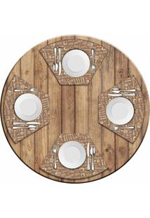 Jogo Americano Love Decor Para Mesa Redonda Wevans Kitchen Kit Com 4 Pçs