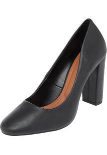 Scarpin Dafiti Shoes Redondo Preto