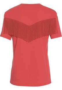 Camiseta Feminina Franjas Sofia - Vermelho