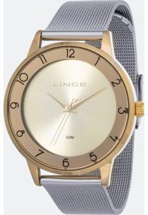 Kit Relógio Feminino Lince Lrt4598L-Kw29C2Sx Analógico 5Atm + Pulseira