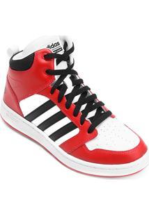 Tênis Couro Cano Alto Adidas Cf Super Hoops Mid Masculino - Masculino